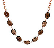 Bronzo Italia 24 Smoky Quartz Bead Necklace - J312484