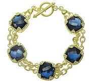 Judith Ripka Sterling Hematite Doublet Bracelet, 14K Clad - J313484