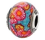 Prerogatives Sterling Multicolor Floral ItalianMurano Bead - J315284