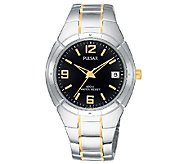 Pulsar Mens Two-Tone Dress Bracelet Watch - J316284