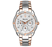 Bulova Ladies Two-Tone Diamond Accented Bracelet Watch - J316384