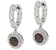 Round Pave Woven Diamond Earrings, Sterling, 1/5ct by Affinity - J317384