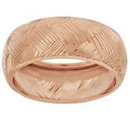 14K Gold 8mm Diamond Cut Band Ring - J319684