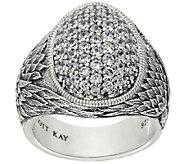 Scott Kay 1.10 cttw Pave Diamonique Guardian Angel Sterling Ring - J320784