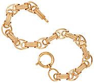 14K Gold 6-3/4 Dimensional Byzantine Bracelet, 6.0g - J321584