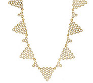 As Is Luxe Rachel Zoe Polka Dot Pyramid Necklace - J324784