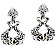 JAI Sterling & 14K Andaman Sea Kissing Fish Earrings - J325184