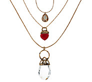 Susan Graver Layered Long Necklace - J326984