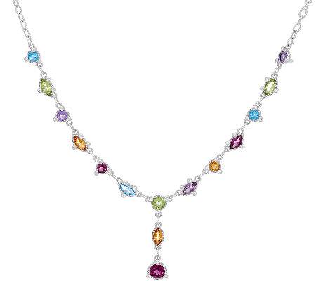 Judith Ripka Sterling 5.10 cttw Multi Gemstone Y Necklace