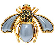 Joan Rivers Pave and Faux Pearl Bee Pin - J327784