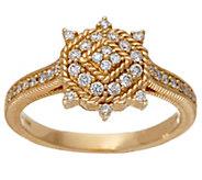 Judith Ripka 14K Gold 4/10 cttw Diamond Ring - J328684