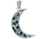 Judith Ripka Sterling Silver 4.80 cttw Gemstone Moon Pin / Enhancer - J329284