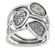 Sterling Silver Multi-Row Textured Ring by Or Paz - J329384