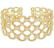 Judith Ripka 14K Clad Diamonique 5.60 cttw Cuff Bracelet - J330484