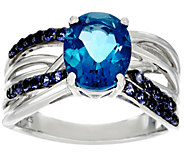 Color Change Fluorite & Iolite Sterling Silver Ring 3.00 cttw - J330884