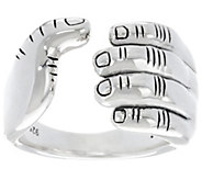 Ships 6/20/16 JAI Sterling Silver I Love Band Ring - J331584