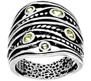 Sterling Silver Multi-texture Gemstone Ring by Or Paz - J333584