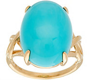 Oval Sleeping Beauty Turquoise Ring, 14K Gold - J347784