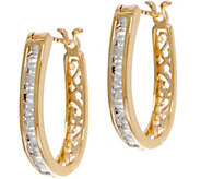 Baguette White Diamond Hoop Earrings, 14K 1/2 cttw by Affinity - J349984