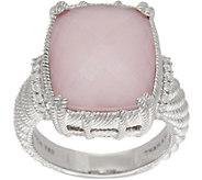 Judith Ripka Sterling Silver Rose Quartz & Pink Opal Doublet Ring - J350484