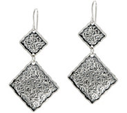 Or Paz Sterling Double Square Dangle Earrings - J351184