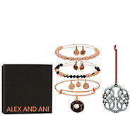 Alex and Ani Set of 3 Joy Bangles & Ornament - J351884