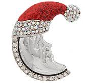 Kirks Folly Candy Cane New Moon Pin - J352484