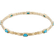 American West Brass and Turquoise Bangle - J377484