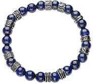 Sterling Mens Gemstone Bead Bracelet by Or Paz - J378884