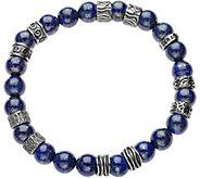 Sterling Mens Gemstone Bead Bracelet by Or Paz - J378884
