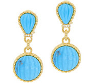 Judith Ripka Sterling & 14K-Clad Turquoise DropEarrings - J379984