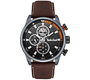 Timberland Mens Stainless Brown Leather Multi-Function Watch - J380784