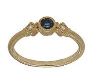 Judith Ripka 14K Gold Gemstone and Diamond Ring - J382384