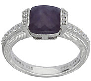 Judith Ripka Sterling Cape Amethyst & Diamonique Ring - J383584