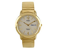 Timex Mens Watch with Goldtone Expansion Bandand White Dial - J102885