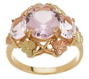 Product image of Black Hills 3 Stone Oval Helenite Ring 10K/12K Gold