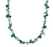 Honora Cultured Pearl Keshi & Gemstone 18 Sterling Necklace - J277185