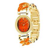 Linea by Louis DellOlio Enamel Link Watch - J277885