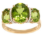 Master Cut Premier 5.00 ct tw Peridot Ring 14K Gold - J283885