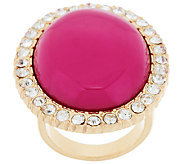 Susan Graver Cabochon and Crystal Cocktail Ring - J287685