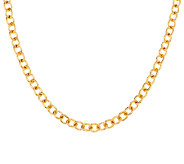 Bronze 36 Solid Polished Oval Link Necklace by Bronzo Italia - J289285
