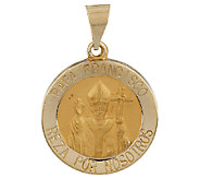 14K Gold Papa Francisco Spanish Pendant - J290985
