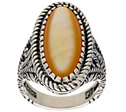 American West Sterling Oval Mother-of-Pearl Ring - J294985