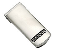 Forza Brushed Stainless Steel Money Clip - J302485