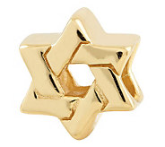 Prerogatives Gold-Plated Sterling Star of DavidBead - J302685