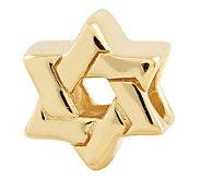 Prerogatives Gold-Plated Sterling Star of DavidBead - J302685