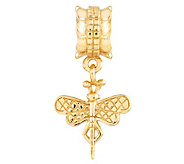 Prerogatives 14K Yellow Gold-Plated Sterling Dragonfly Bead - J302885