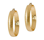 Arte d Oro 1-5/8 Hoop Earrings, 18K Gold - J305585