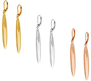 Joan Rivers Set of 3 Polished Linear Lever Back Earrings - J317585