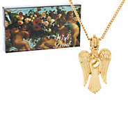 Wish Pearl Cultured Pearl Angel Pendant w/ Chain - J318685